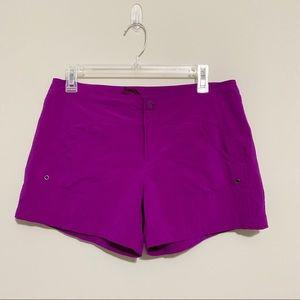 Athleta Purple Costa Swim Shorts 864587 Size 8